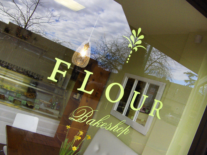 flour bakeshop signage