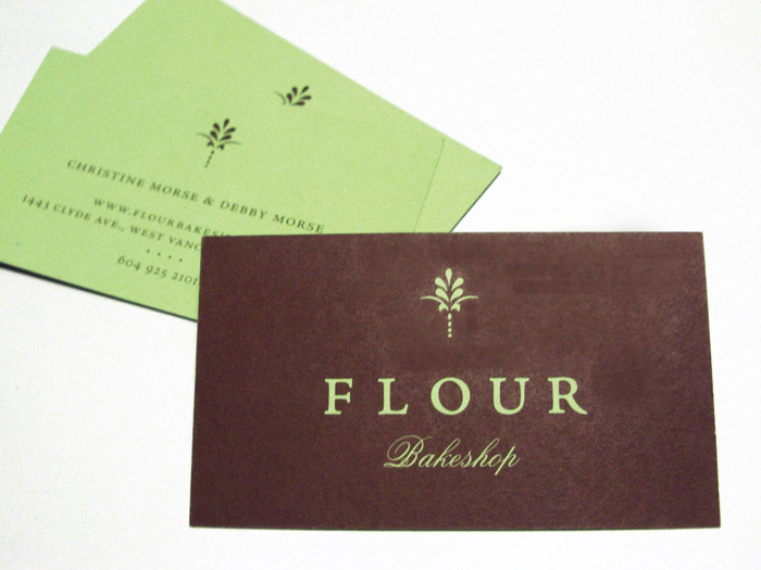 flour bakeshop business cards