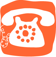 retro telephone contact illustration