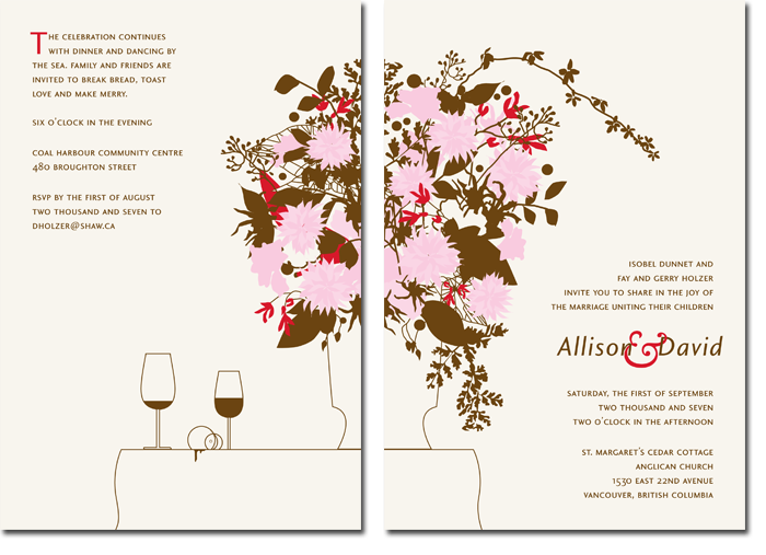 wedding invitation custom illustration