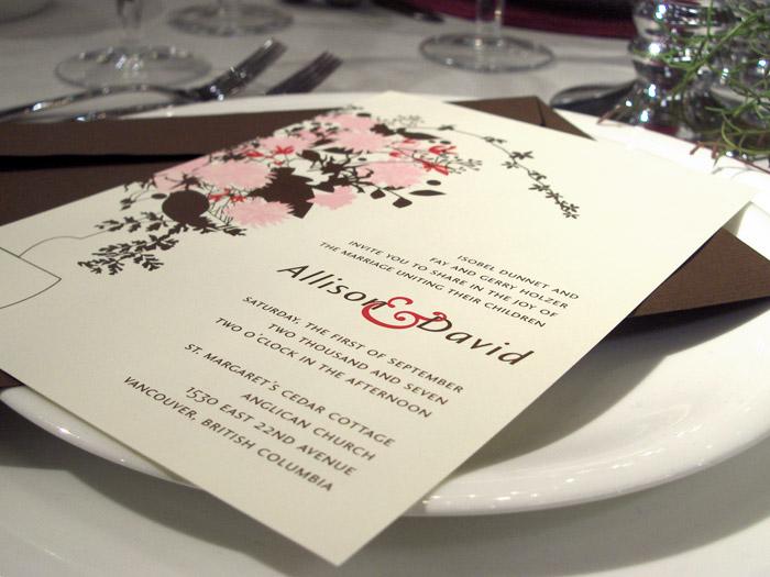 wedding invitation custom illustration