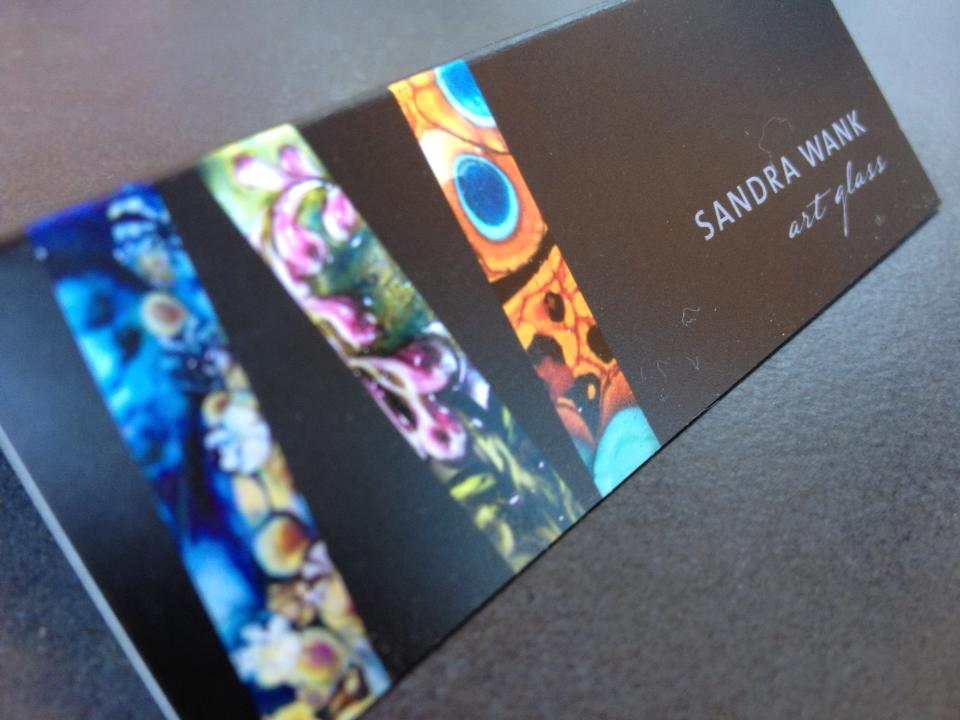 sandra wank glass art - identity and card design