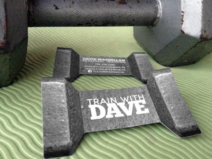 Train With Dave - identity and card design