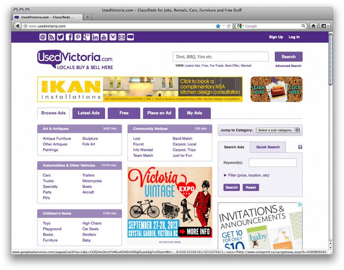victoria vintage expo ads
