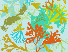 Botanical Beach Seaweed Fabric