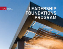 SFU HR Leadership Foundations Program Collateral