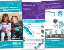 Children's Health Foundation Impact Report Design